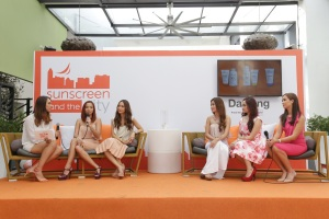 Daylong sunscreen ambassadors with event host Karen Pamintuan