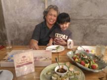 Mamala Ellen with Kuya Clyde, certified Cerelac Baby!