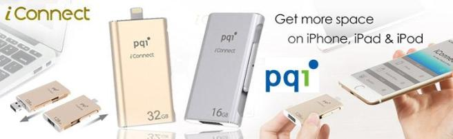 Get more data space for your Iphone with PQI i-connect.