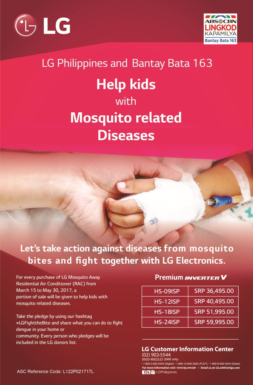 LG Electronics partners with ABS-CBN Lingkod Kapamilya Foundation's Bantay Bata 163 for Dengue Hospitalization Pledge Campaign (2).jpg