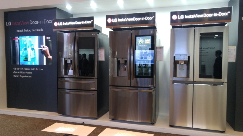 LG InstaView Door-in-Door refrigerators on display during LG InnoFest2017.jpg