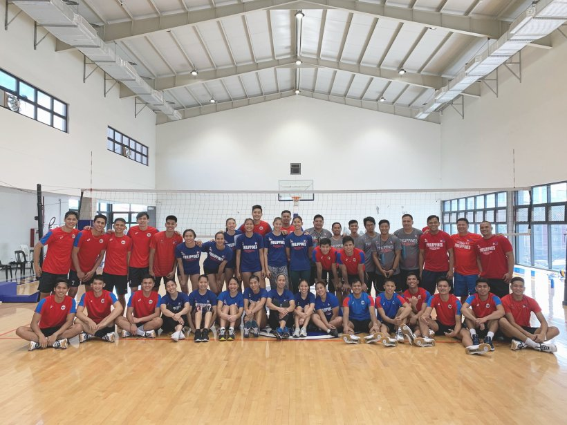 The PH men and women's volleyball team for the 30th SEA Games